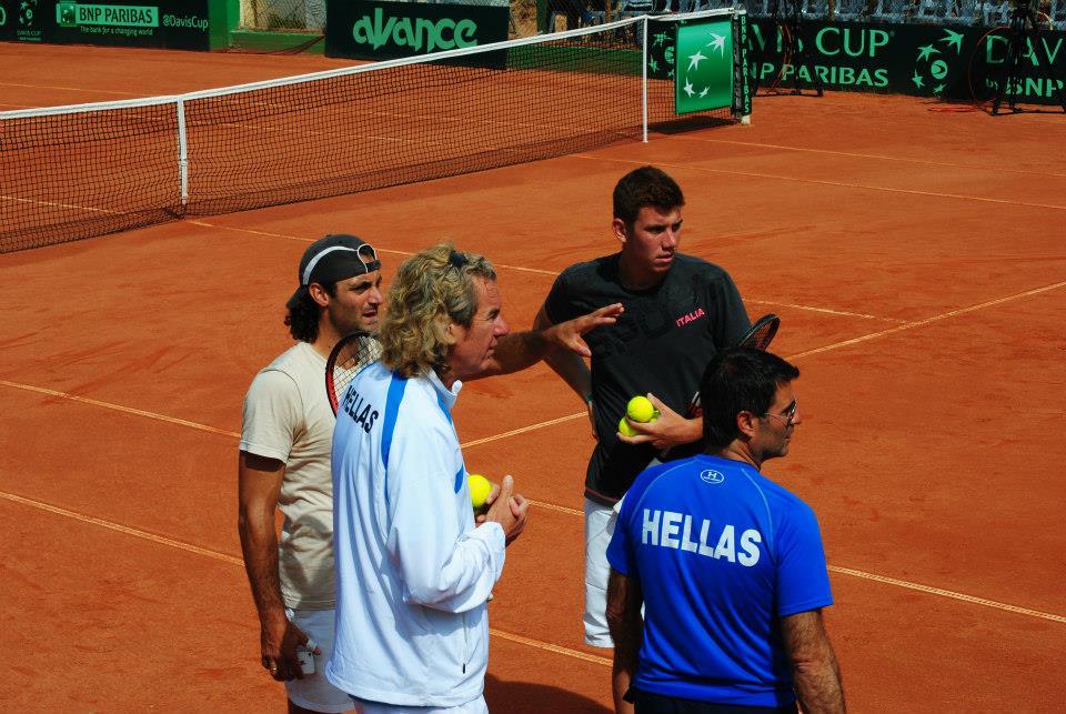 Davis Cup 2014 World Group 2, Athens-Ilioupoli Tennis Club: Greece-Bulgaria 1-4 (3/6)