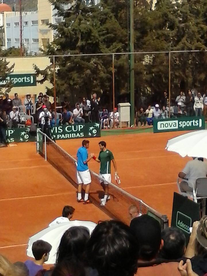 Davis Cup 2014 World Group 2, Athens-Ilioupoli Tennis Club: Greece-Bulgaria 1-4 (4/6)