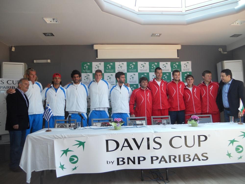 Davis Cup 2014 World Group 2, Athens-Ilioupoli Tennis Club: Greece-Bulgaria 1-4 (5/6)